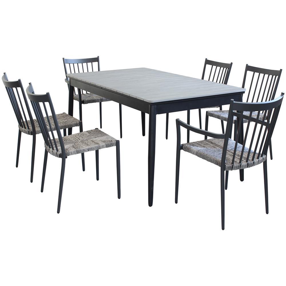 Sedie Tavoli Da Esterno.Milani Home Imperium Set Tavolo Da Giardino Allungabile 160 240 X 90 Compreso Di 4 Sedie E 2 Poltrone Eprice
