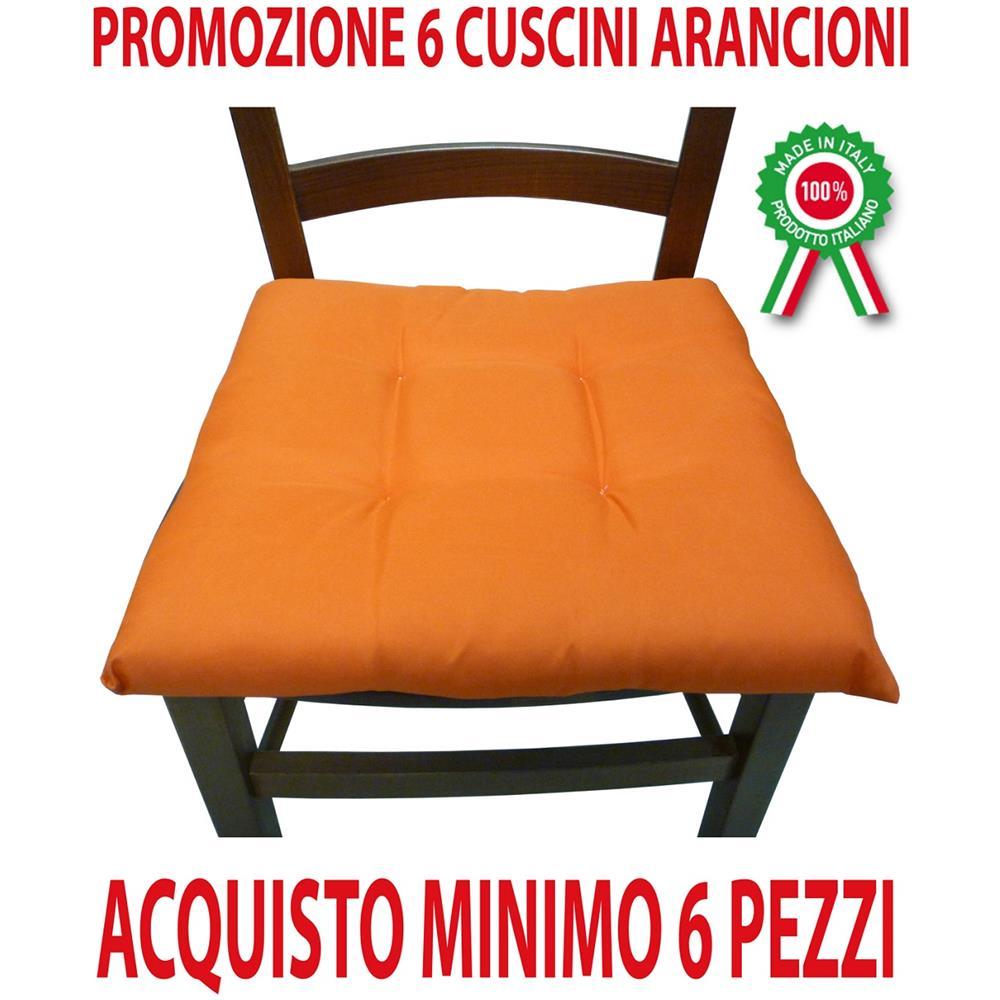 Imbottitura Cuscini Per Sedie.Sf Savino Filippo Ordine Min 6 Pz Cuscini Arancione Imbottiti
