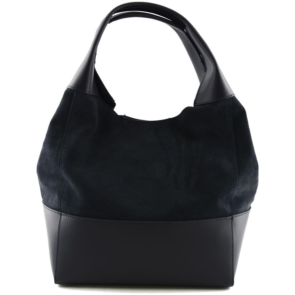 2019 autentico comprare a buon mercato offerta speciale Dream Leather Bags Borsa Donna Shopper In Vera Pelle Scamosciata Colore Blu  Scuro - Pelletteria Toscana Made In Italy - Borsa Donna