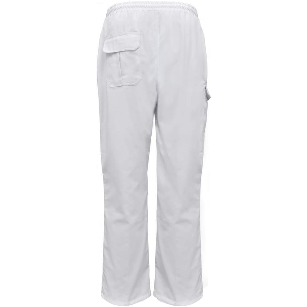 VIDAXL - 2 Pz Pantaloni Da Cuoco Cintura Elastica Taglia S Bianchi ... 61a864dbd9f3