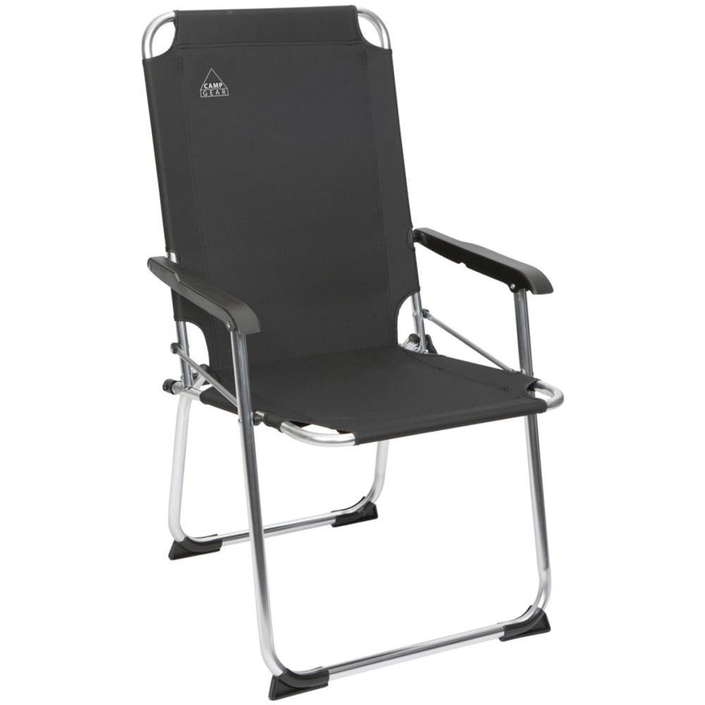Sedia Campeggio Pieghevole.Camp Gear Sedia Da Campeggio Pieghevole Comfort Antracite Alluminio