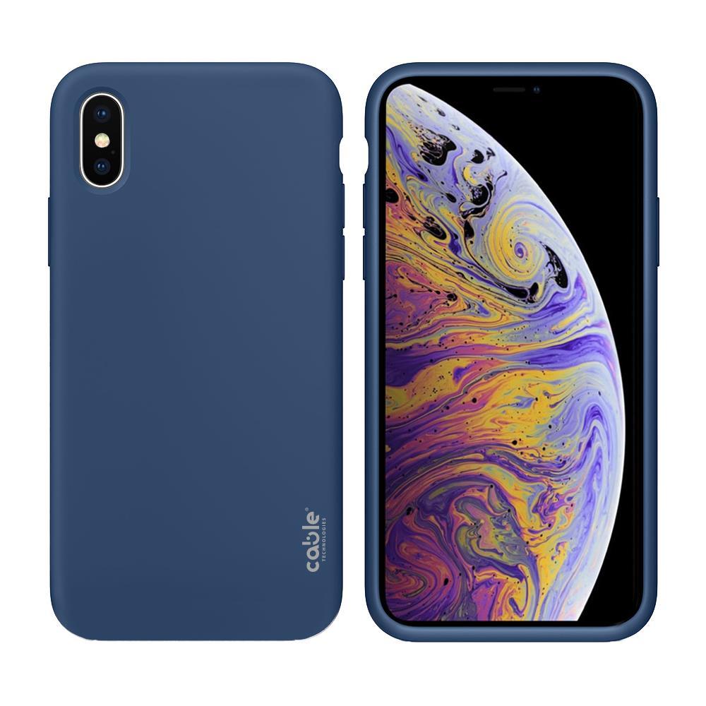 CABLE TECHNOLOGIES Ivelvet Blue Cobalt For Iphone Xs Max, Custodia Case Cover Apple Iphone Xr Protezione E Design, Materiali Di Alta Qualità, Silicone ...