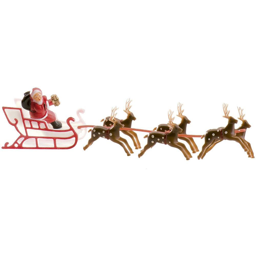 Immagini Babbo Natale Con Slitta.Festivifete Decorazione Torta Con Slitta Di Babbo Natale Taglia Unica