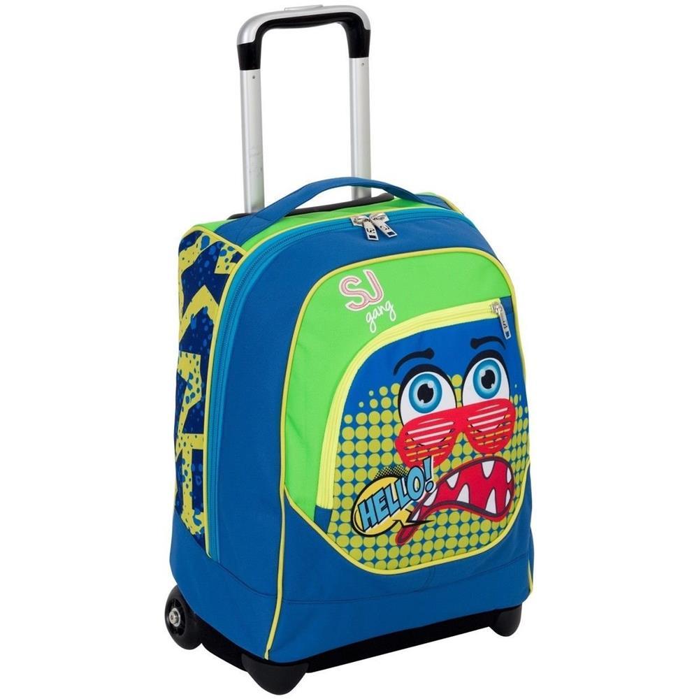 nuovo di zecca de572 d6e04 Seven - Zaino Trolley Sj Facce Scuola Blu - ePRICE