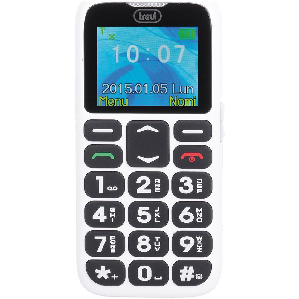 eef6e4fa4a TREVI - Telefono Cellulare Per Anziani Con Tasti Grandi Trevi Sicuro 10  Bianco - ePRICE