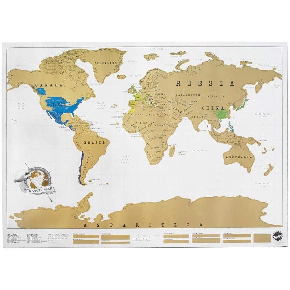 Cartina Mondo Gratta.Takestop Mappa Mondo Cartina Geografica Marrone Mappamondo Grattare 88x52cm Poster Diario Viaggio Camera Casa Ufficio Muro Parete Eprice