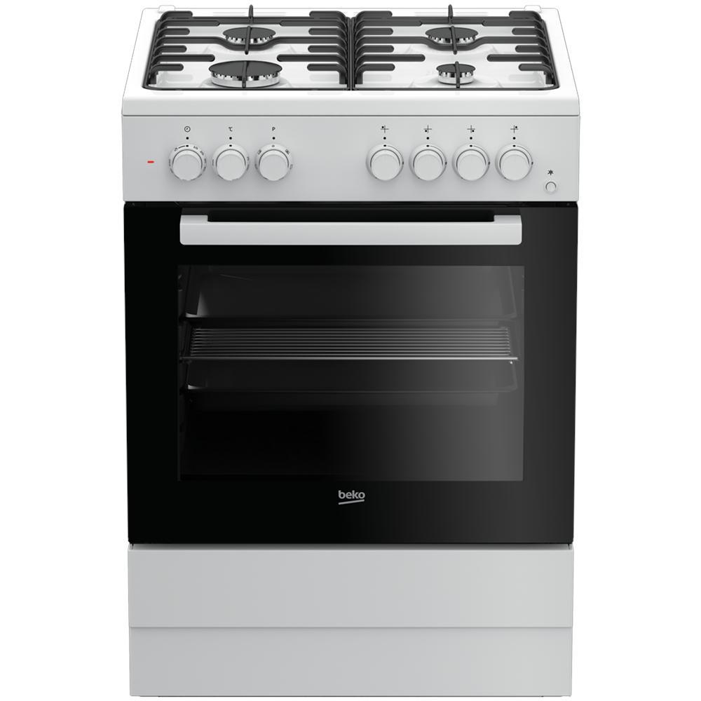 BEKO Cucina Elettrica FSST62110DW 4 Fuochi A Gas Forno Elettrico Classe A  Colore Bianco