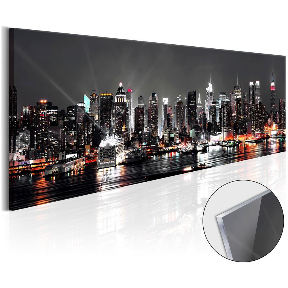 bimago - Quadri Su Vetro Acrilico - New York Dream [ glass] 120x40 ...