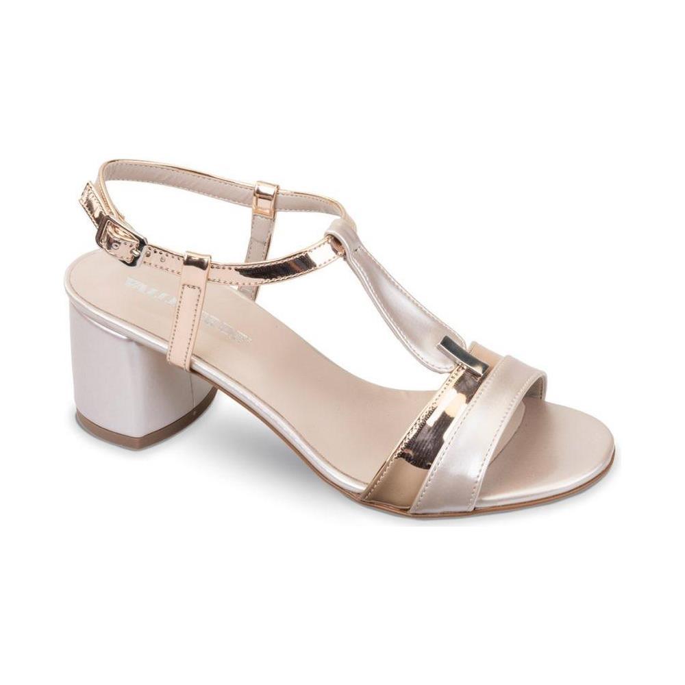 design unico nuovi arrivi colore veloce VALLEVERDE 45331 Sandali Scarpe Tacco Elegante Pelle Donna Rame Rame 35
