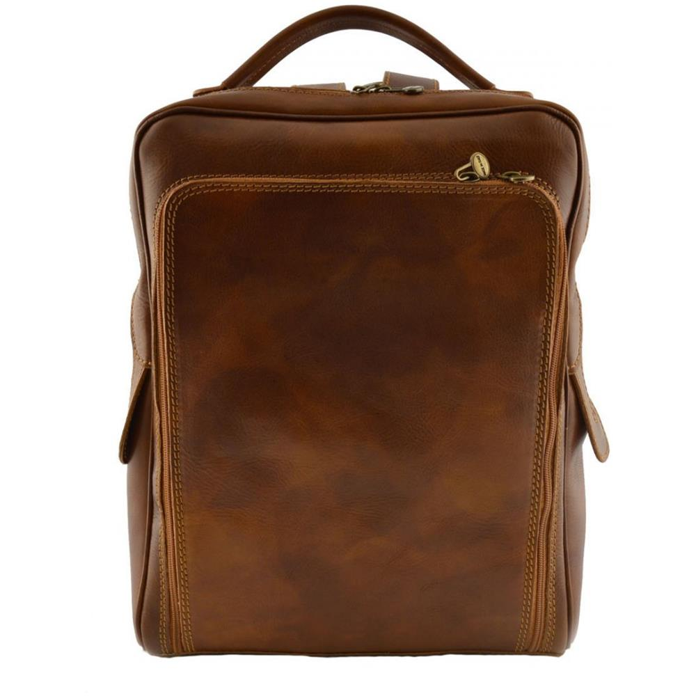 4eaa23a85e Dream Leather Bags - Zaino In Pelle Vera Per Uomo Con Tasca Frontale Colore  Cognac - Pelletteria Toscana Made In Italy - Zaino - ePRICE