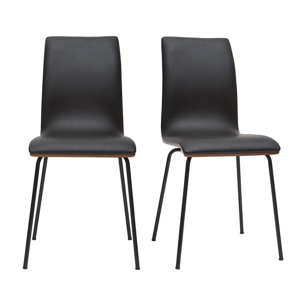 Sedie A Forma Di Sedere Costo miliboo gruppo di 2 sedie bianco e legno chiaro con piedi metallo delicacy