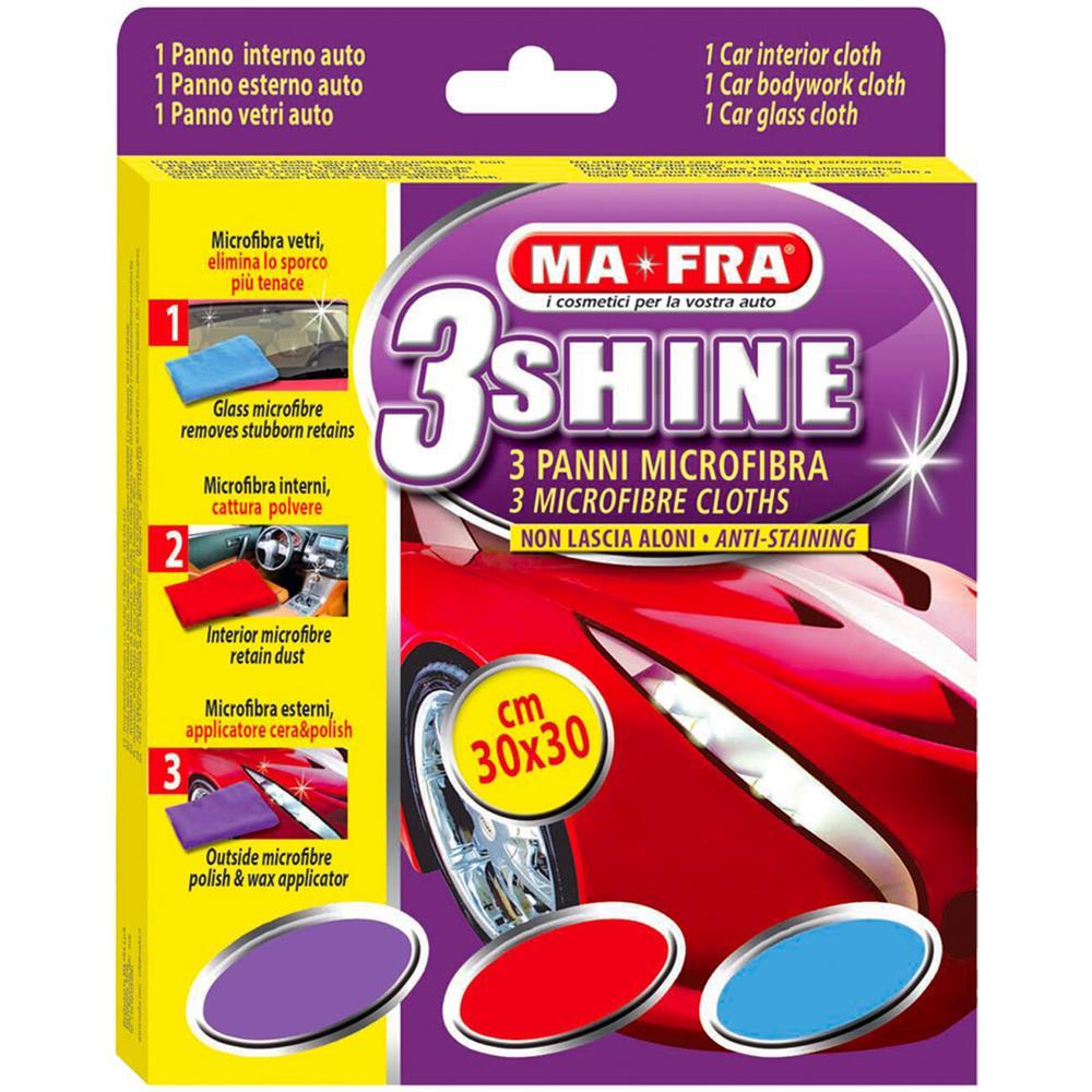 Panno Microfibra Per Asciugare L Auto.Mafra 3shine Panno Panni Microfibra Esterno Interno Pulisce Asciuga Lucida Auto