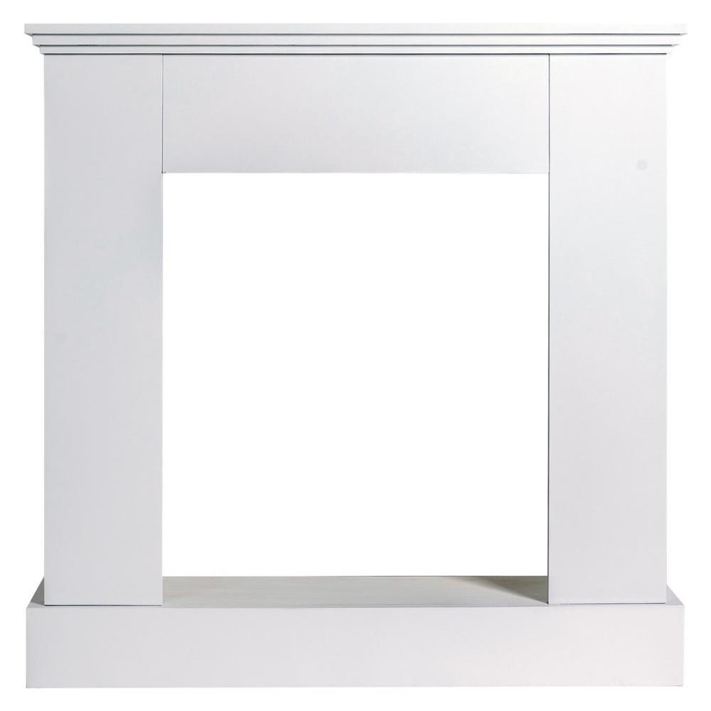 Legno Decorativo Per Camino mobili rebecca cornice decorativa camino legno bianco stile contemporaneo  sala