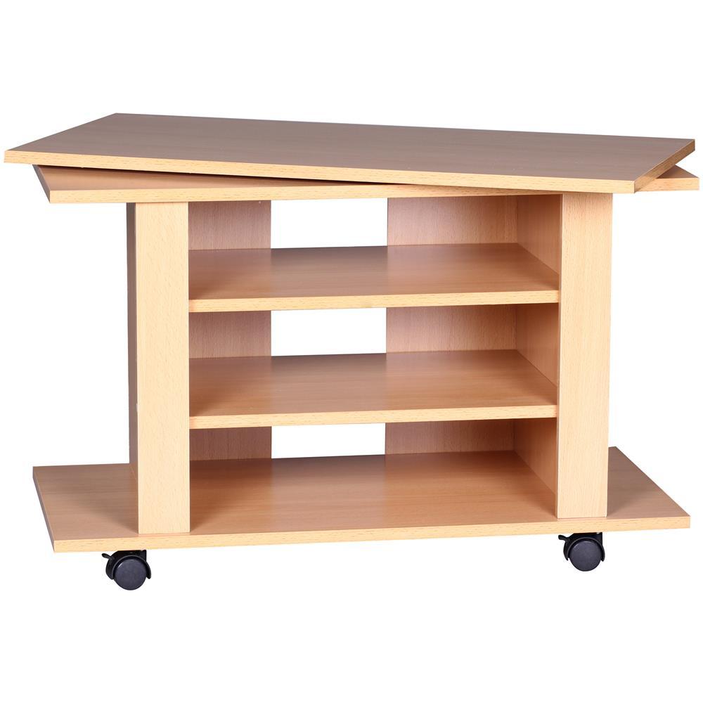 Tavolino Per Tv.Mendler Mobile Porta Tv Tavolino Girevole Design Moderno Truciolato A048 38x75x51cm