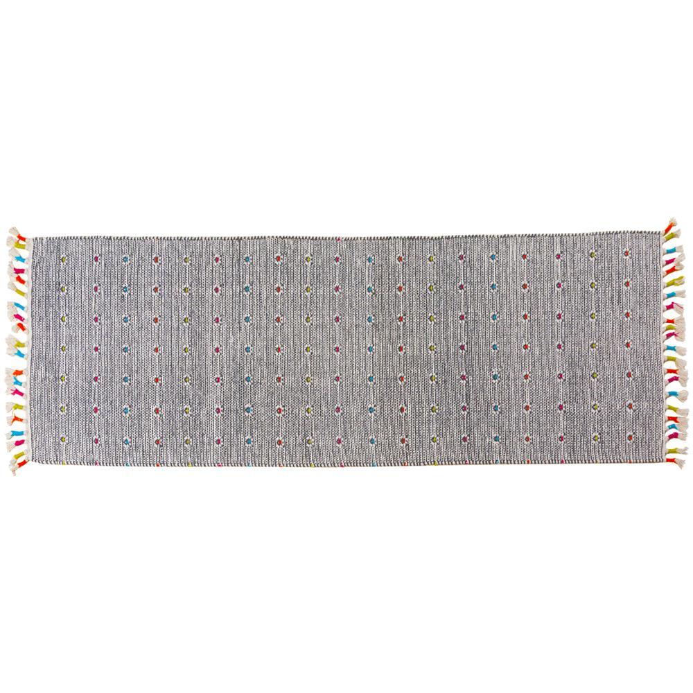 Tappeti Bagno Su Misura Torino dmora tappeto moderno texas, stile kilim, 100% cotone, grigio, 45 x 30 cm