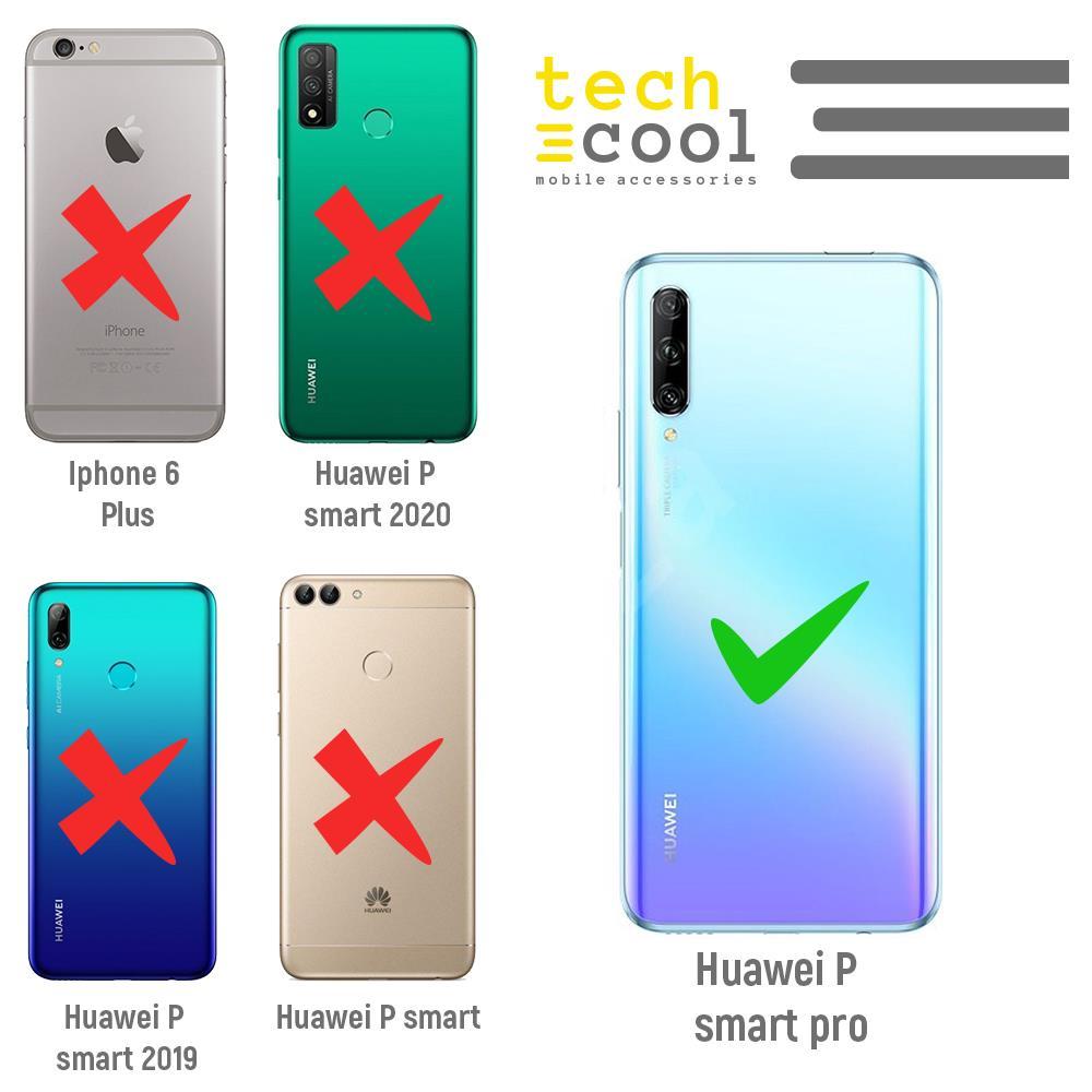 Techcool Cover, Custodia Per Huawei P40 Lite L Silicone Piume Blu - I Viola