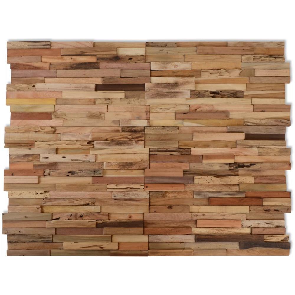 Tavole Legno Per Rivestimento Pareti vidaxl 10 pannelli di rivestimento per pareti 1 m² in teak riciclato