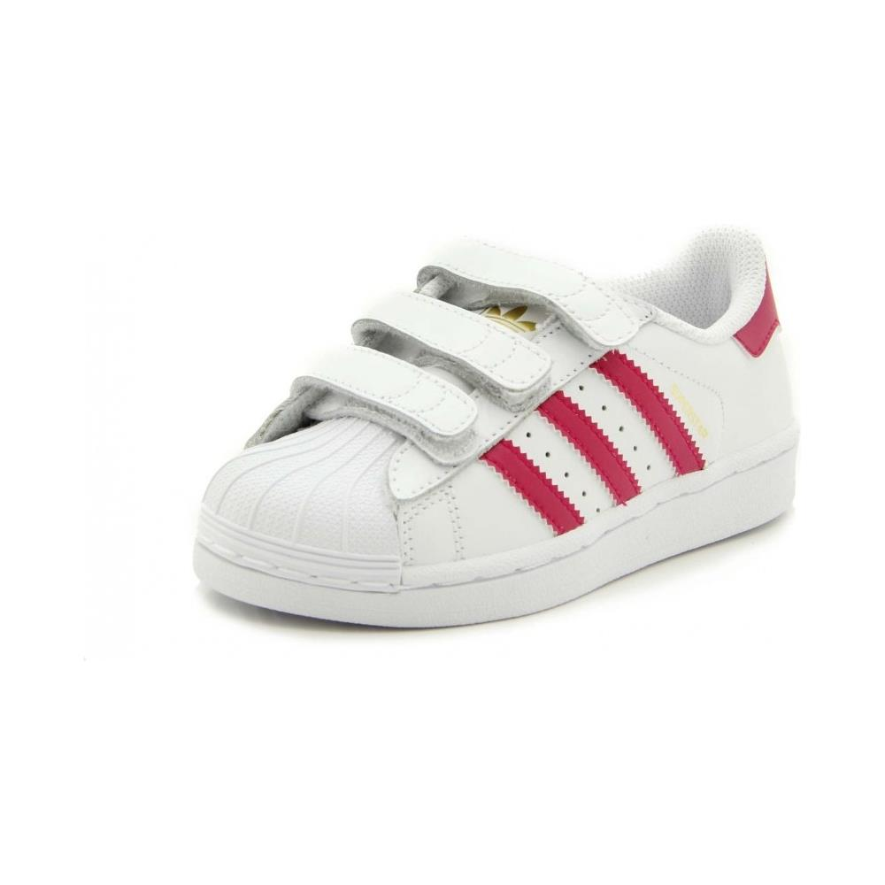 Adidas - Superstar Foundation Cf C Scarpe Bambina Bianche Pelle Strappi B23665 34 - ePRICE