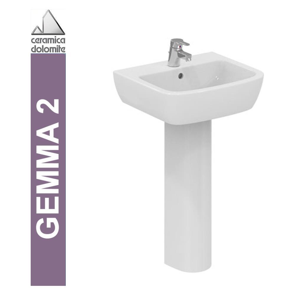 Ceramica Dolomite Serie Gemma.Ceramica Dolomite Lavabo A Parete 65cm Serie Gemma 2 J521101