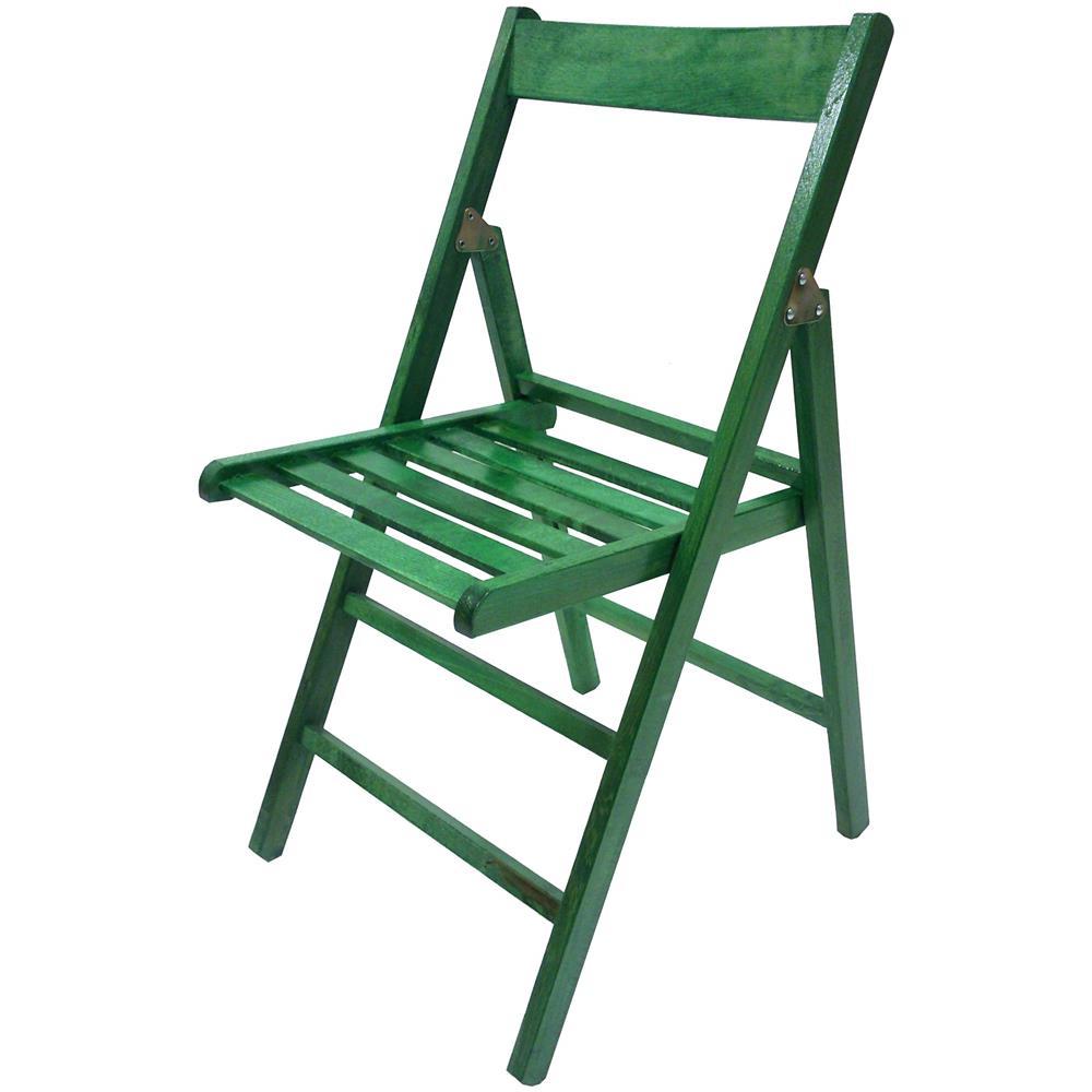sedie legno pieghevoli verde