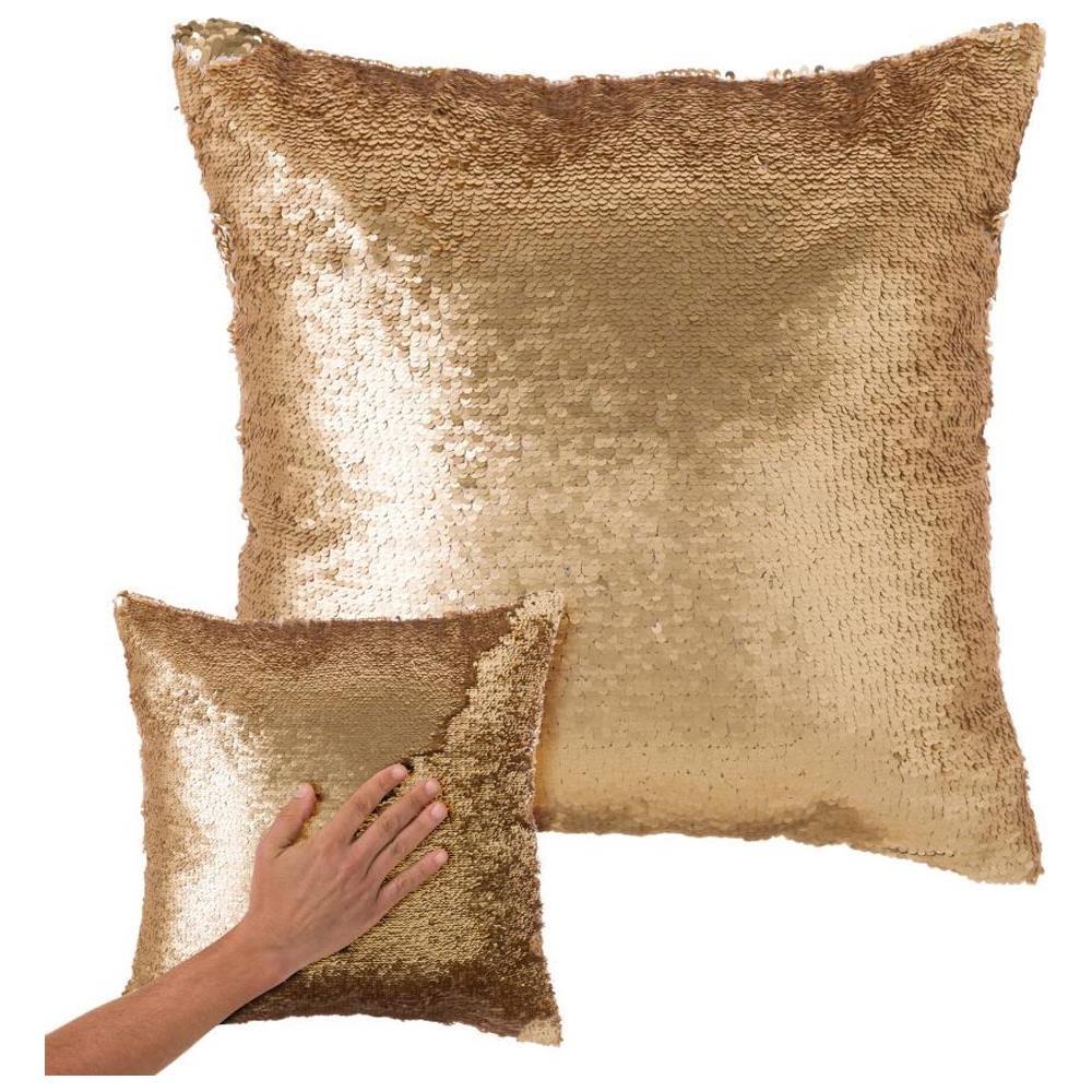 Cuscini Color Oro.Bakaji Cuscino Paillettes Federa Effetto Sirena Doppio Colore