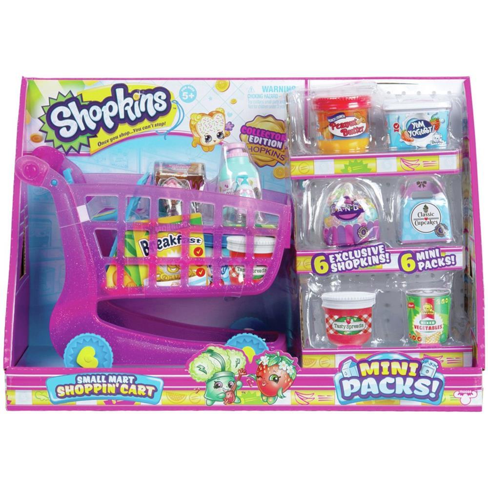 """Shopkins mini confezioni piccole MART SHOPPING /""""Carrello con 6 NUOVI Shopkins Esclusivi"""