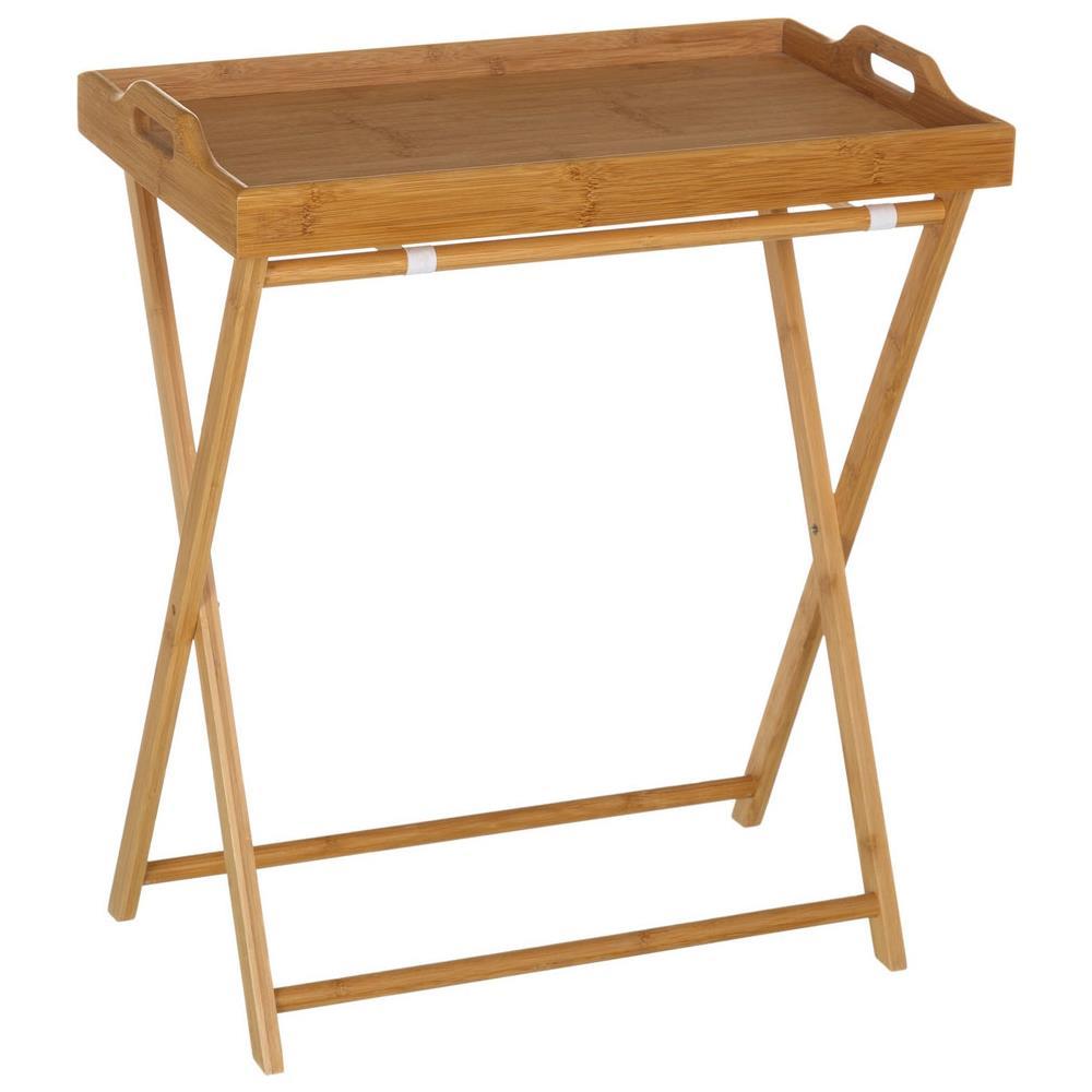 Tavolino Da Letto.Bakaji Vassoio Tavolino Da Letto Con Gambe Pieghevoli Rimovibili In Legno Di Bambu