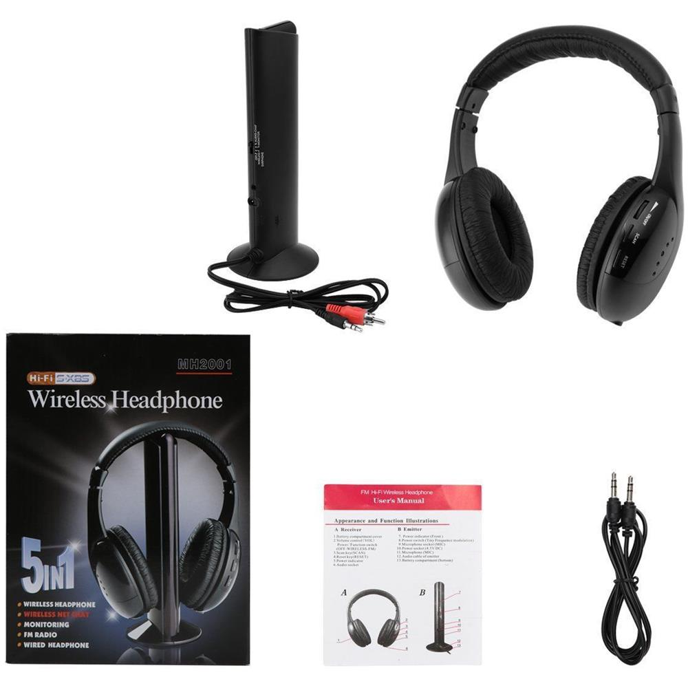 EASYELETTRONICA - Cuffie Stereo Wireless 5 In 1 Senza Fili Wifi ... 761e187ce278
