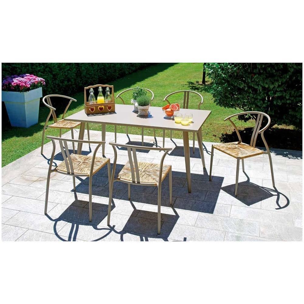 Set Tavolo E Sedie Da Giardino In Alluminio.Gruppo Maruccia Set Tavolo E Sedie Da Giardino In Alluminio Sei Posti