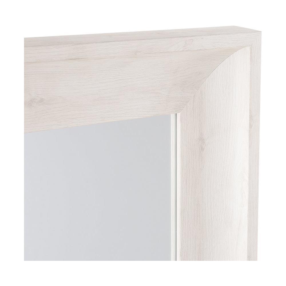 Beliani - Specchio Moderno Da Parete Con Cornice Bianca - 51x141cm ...
