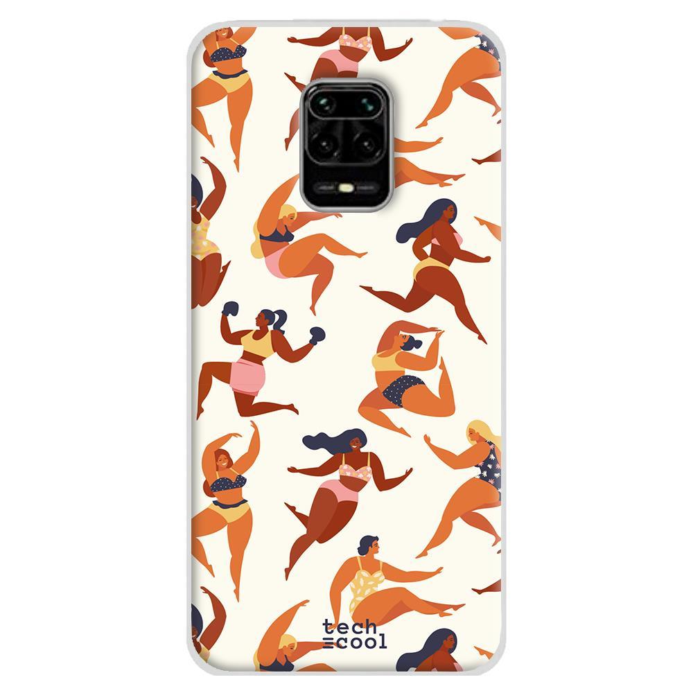 Techcool Cover, Custodia Per Huawei P40 Lite L Silicone Patron Donne Femminile Bellezza Sfondo Crema Versione 1
