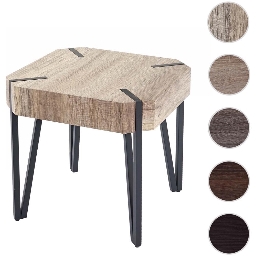 Mendler Tavolino Da Salotto Kos T574 Legno Di Pioppo Rivestito 50x50x52cm  Colore Rovere Naturale