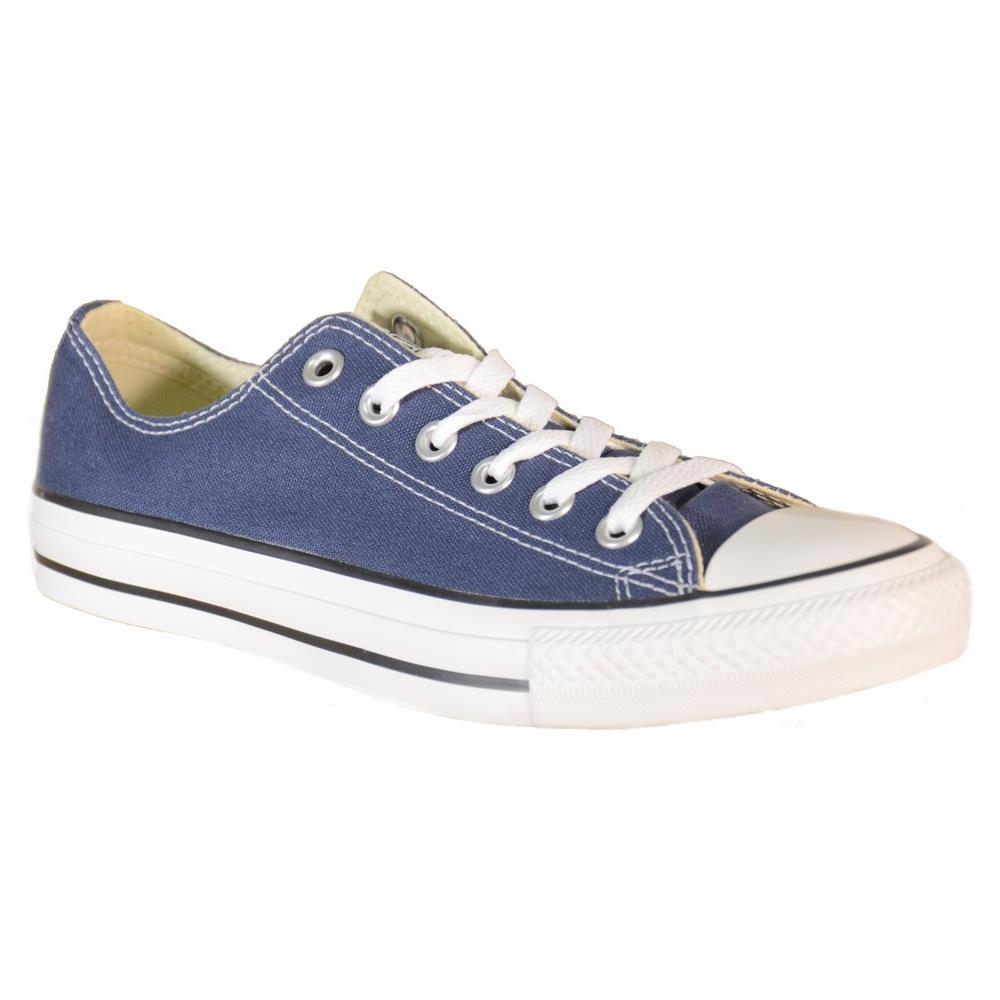 Converse - All Star Ct Scarpe Sneakers Basse Low Blu Navy Tela