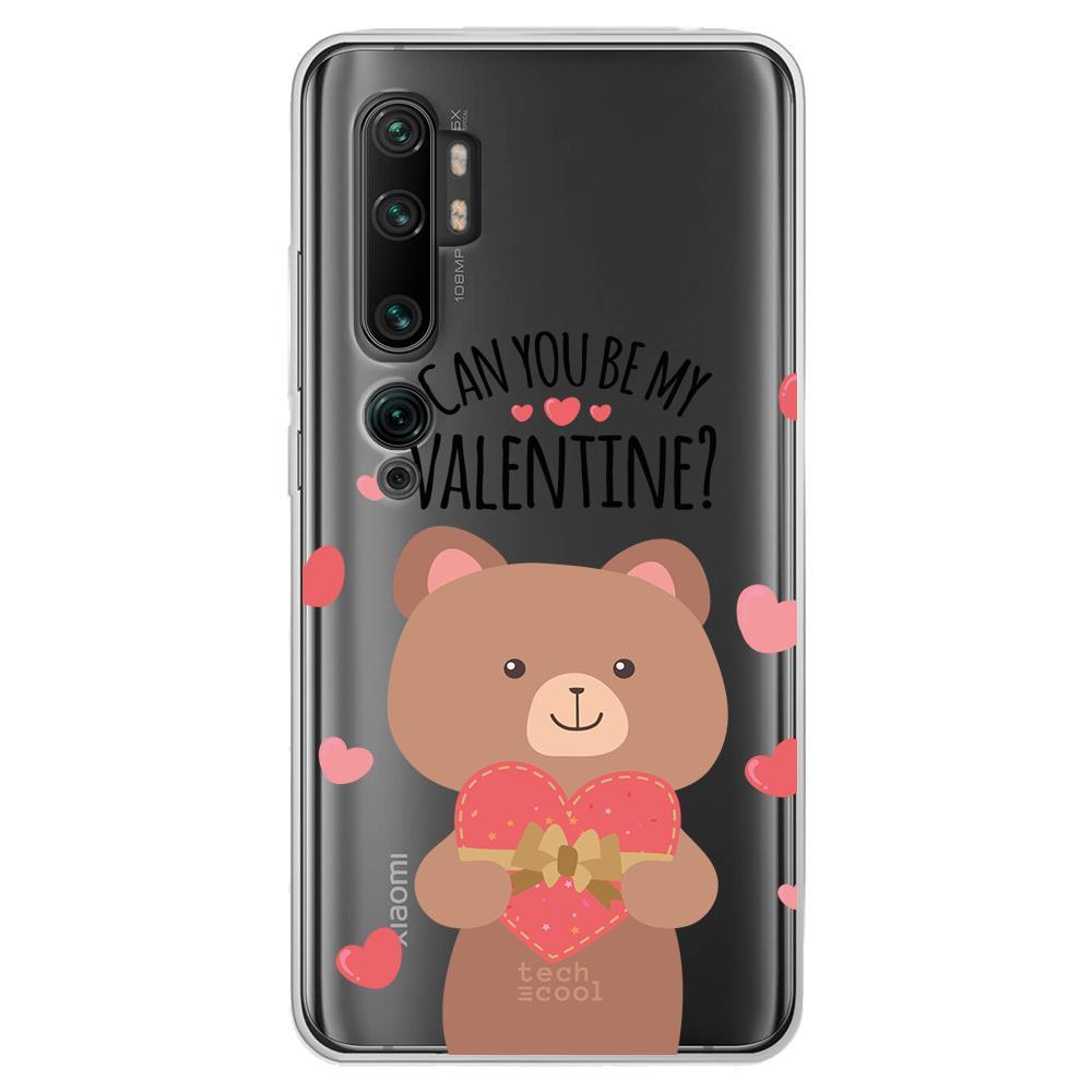 Techcool Cover, Custodia Per Huawei P40 Lite L Silicone Be My Valentine Orsacchiotto Sfondo Trasparente
