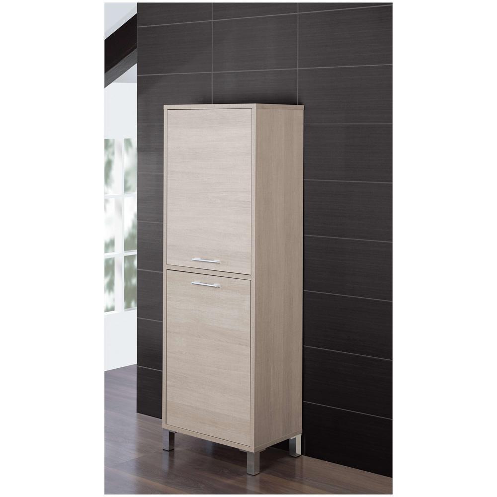 Mobile Bagno Per Asciugamani feridras colonna per biancheria sporca, mobile bagno con antina rovere  chiaro