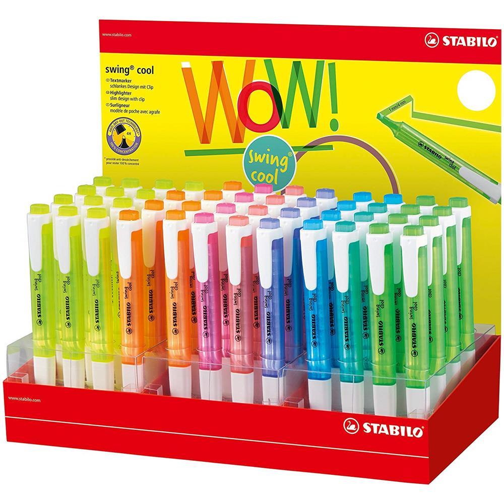 Astuccio da 6 Stabilo Swing Cool Pastel Astuccio con 6 Evidenziatori Colori Assortiti /& swing cool Evidenziatore colori assortiti