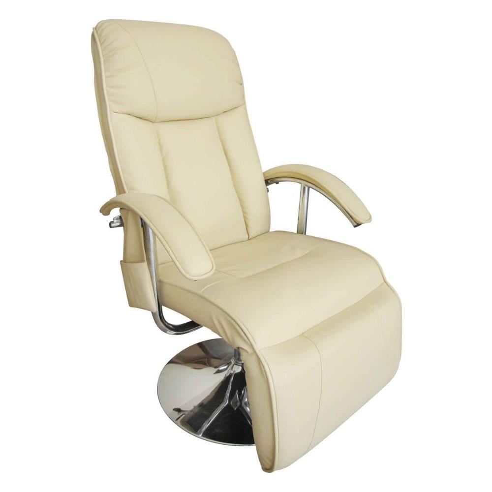 Poltrone Relax Massaggio Prezzi.Vidaxl Poltrona Relax Massaggiante Reclinabile Elettrica Bianco