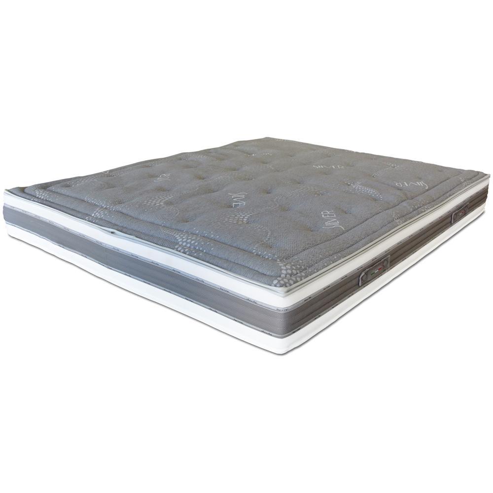 Materasso Memory Foam Baldiflex.Baldiflex Materasso Matrimoniale In Memory Foam Silver Grey 180