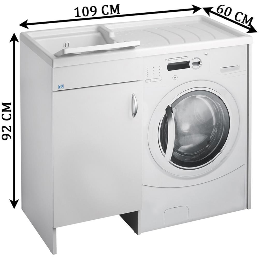 Mobile Proteggi Lavatrice Da Esterno negrari lavatoio coprilavatrice negrari eco montato vasca sinistra sx copri  lavatrice destra dx proteggi bianco mobile lavapanni anta sportello porta