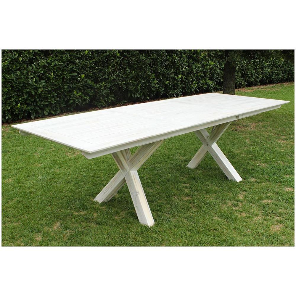 Tavolo 90 X 90 Allungabile Bianco.Milanihome Tavolo Rettangolare Allungabile In Legno Di Acacia 150