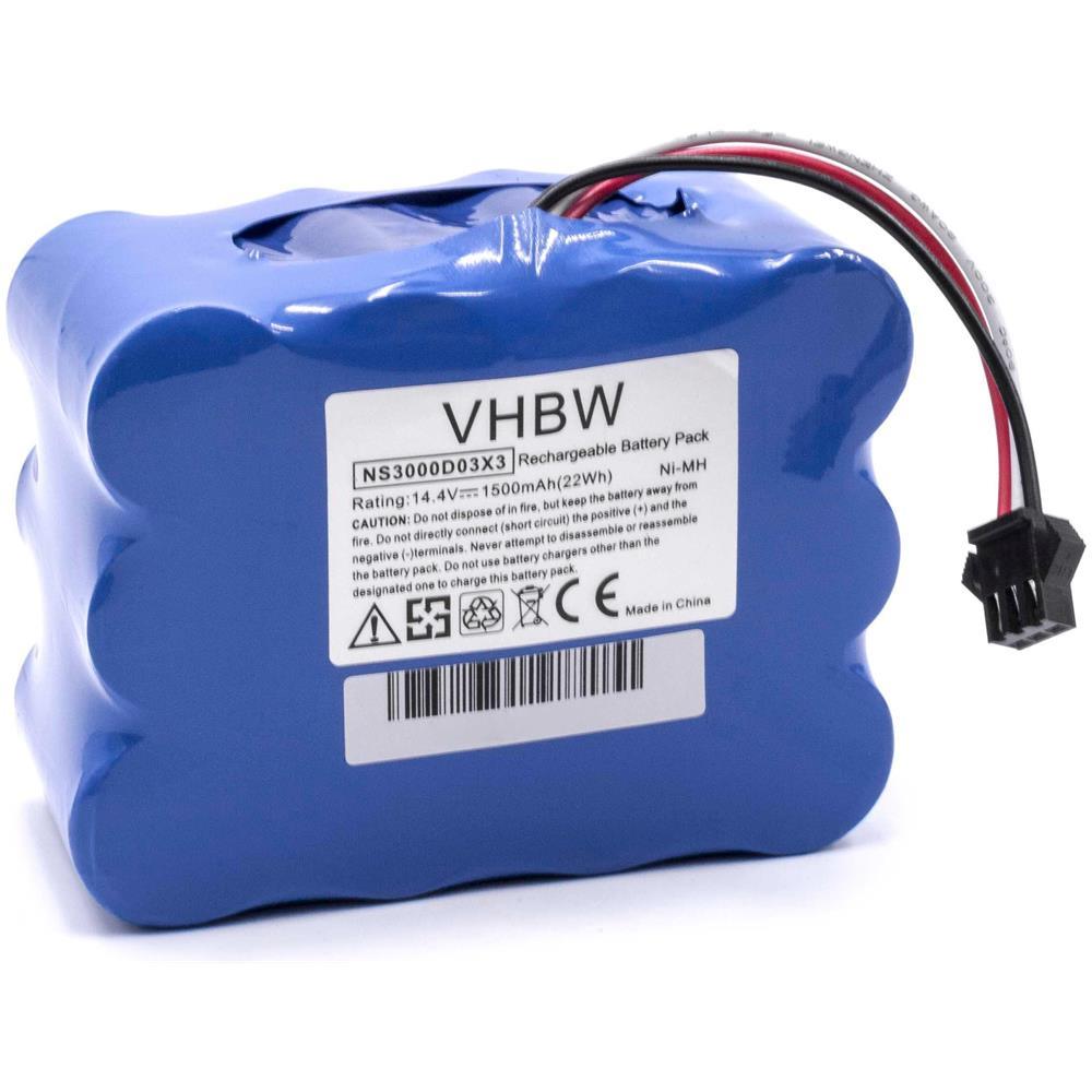 NS3000D03X3. vhbw NiMH batteria 2200mAh per aspirapolvere robot home cleaner robot casa Toposun TPS-XR-210 come YX-Ni-MH-022144 14.4V