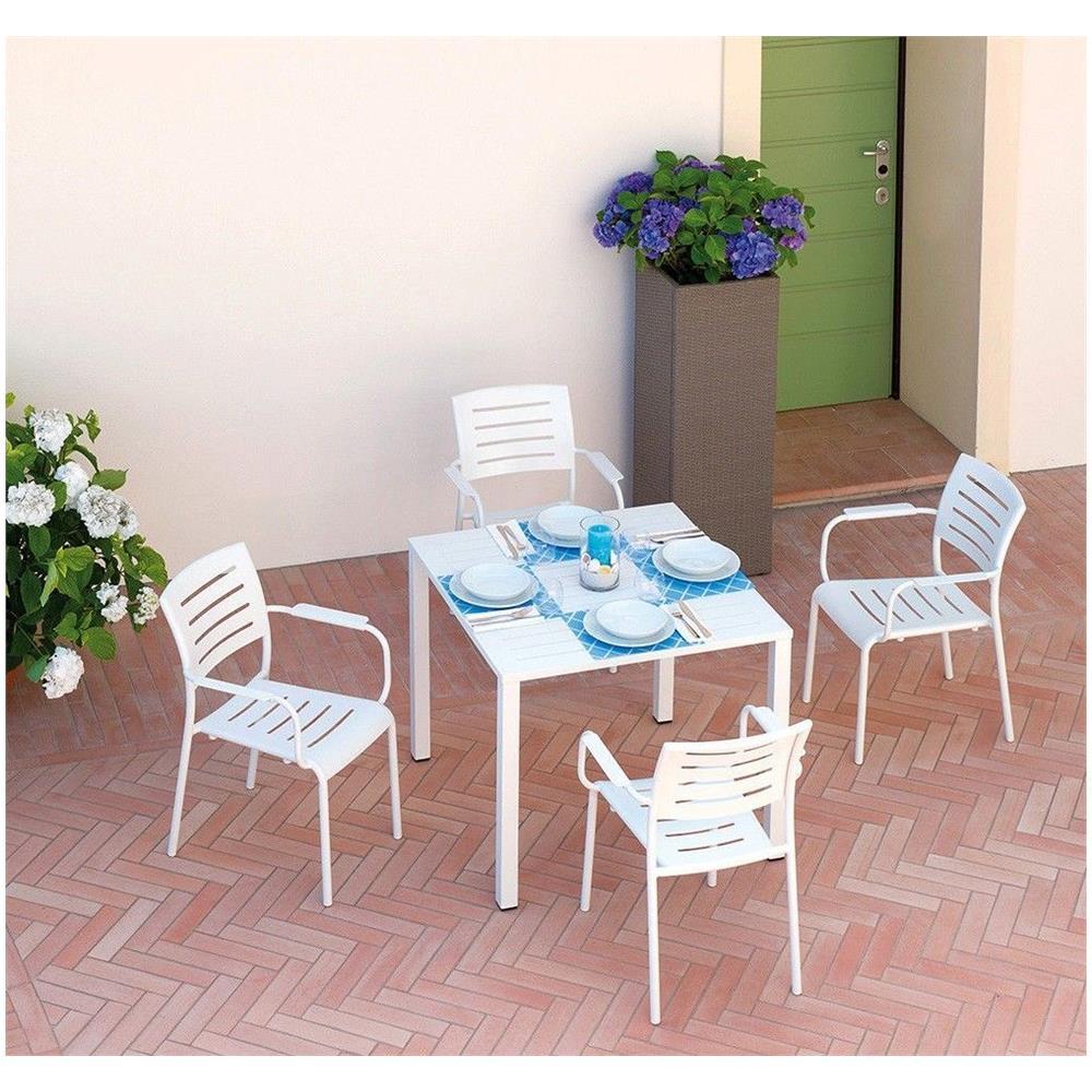 Tavoli E Sedie Alluminio Per Bar.Gruppo Maruccia Set Tavolo E Sedie Per Bar E Giardini In