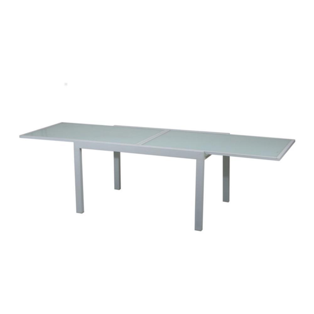 Tavoli Allungabili In Alluminio.Gruppo Maruccia Tavolo Allungabile In Alluminio Con Top In Vetro Temperato