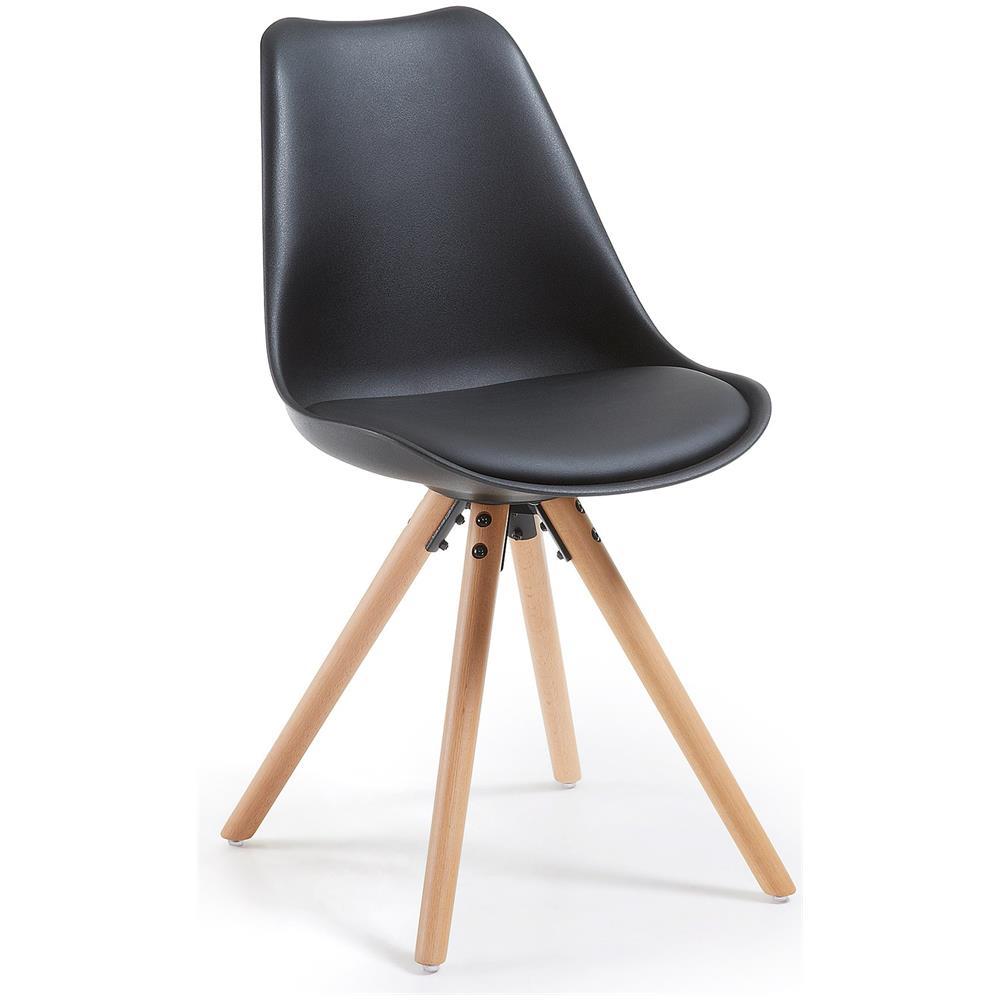 Sedute In Plastica Per Sedie.Keihome Linea J Ralf Sedia Con Piedi In Legno Seduta Plastica