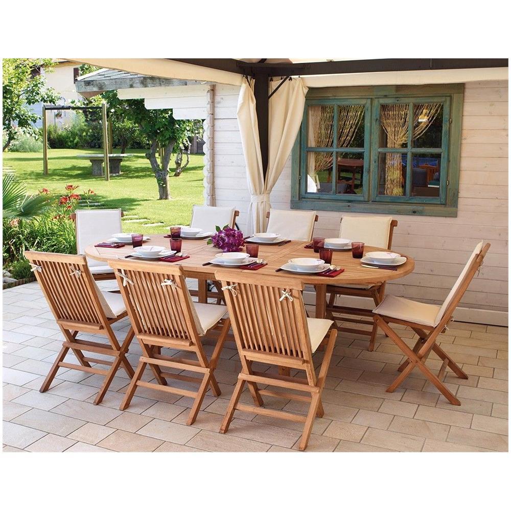 Tavoli E Sedie In Legno.Gruppo Maruccia Set Tavolo E Sedie In Legno Per Pranzare In Giardino