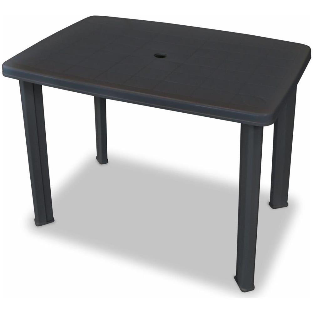 Tavolo Di Plastica Da Esterno.Vidaxl Tavolo Da Giardino 101x68x72 Cm In Plastica Antracite