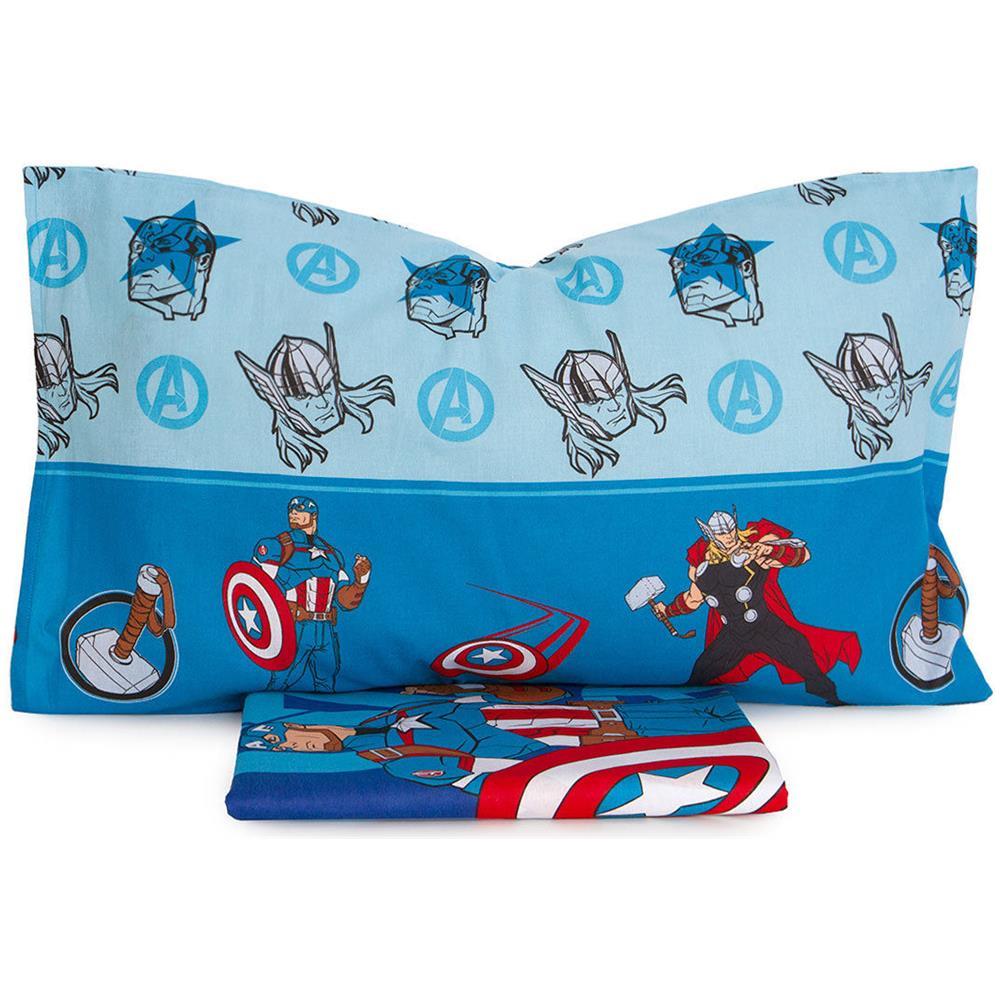 Copripiumino Avengers.Marvel Parure Copripiumino Avengers Marvel Per Letto Singolo Una