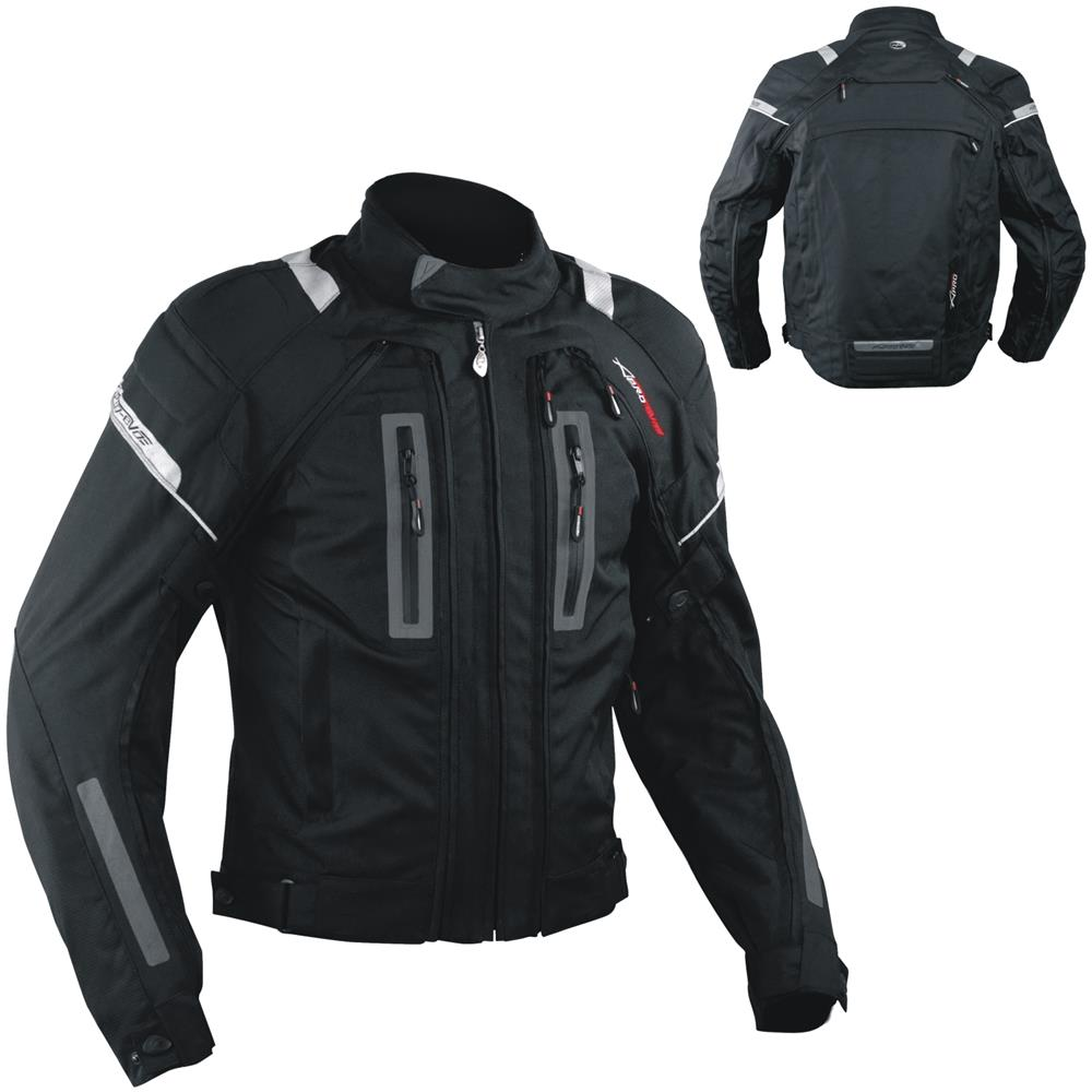 Completo giacca e pantaloni per moto protezione CE impermeabile tessuto cordura