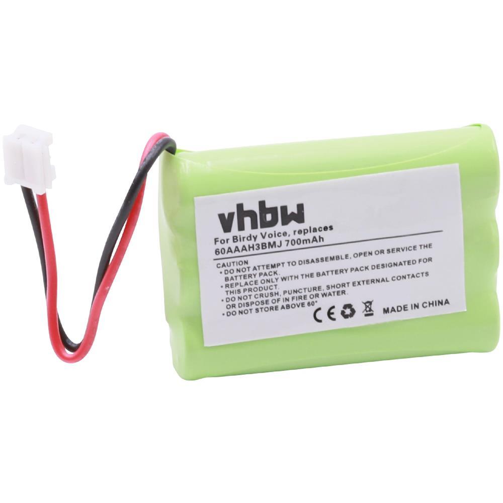 e9b3d9369570 vhbw - 1x Nimh Batteria 700mah (3.6v) Per Telefono Cordless Casio Pmp3985