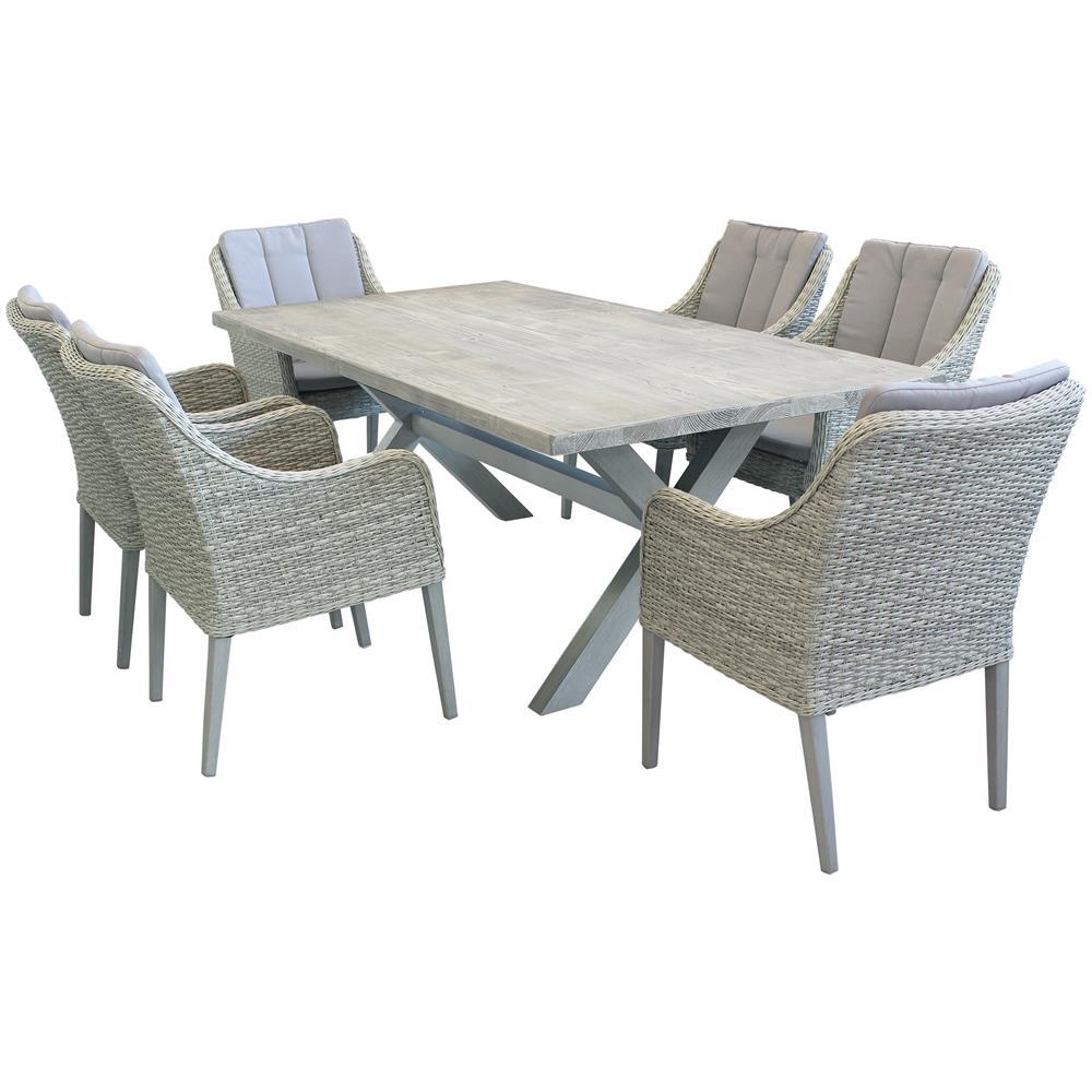 IBEX tavolo da giardino in alluminio e cementite effetto